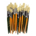 Hog Bristle Stubby Brush Assortment