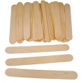 Jumbo Lollypop Sticks - 100 Natural Colour