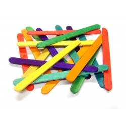 Small Coloured Lolly Sticks - Pack of 1000