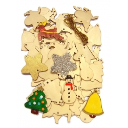 Festive Wooden Decorations